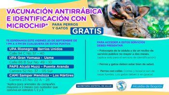 Jornada de Vacunación Antirabica.